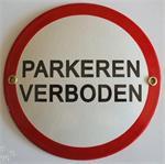 Emaille waarschuwingsborden, verbodsborden