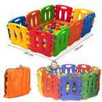 Playpen kruipbox kunststof multi-color 10 panelen