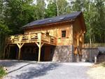 In bos gelegen chalet met sauna, voor 12 personen
