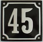 Emaille huisnummers, huisnummerborden