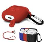 Case apple airpods hoes siliconen hoesje + strap + haak *3 k