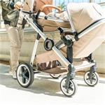 DuetPro Kinderwagen voor 1, of 2 kinderen - Beige
