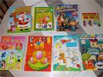 4 kleur- en 5 spelletjesboeken vanaf 3,5 jaar