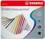 STABILO Aquacolor Kleurpotloden - Metalen Etui 24 stuks (20A