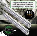 LED BUIS T8 COMPLEET MET ARMATUUR 120CM-18W-ALU
