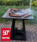 Quan Quadro carbon barbecue 80x80cm! ACTIE