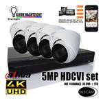 5MP Dahua videobeveiligingset.  Kleur nachtzicht.