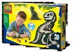 Gieten en schilderen - T-Rex met skelet