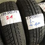 2 x Michelin Alpin A4 175-70-14 Winterbanden 5mm