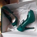 pumps 37 blauw of groen
