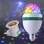 LED E27 3W RGB draaiende roterende lamp disco licht