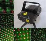 Mini laser show rood groen flash projector led disco *ZWART*