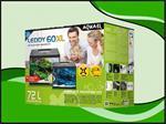Aquael Leddy 60 XL DAY&NIGHT - zwart aquarium
