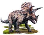 legpuzzel triceratops 84 cm karton bruin 100-delig