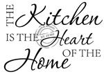 Keukensticker The kitchen is the heart