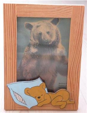 Grote foto fotolijst hout beer . nieuw. huis en inrichting kinder en baby kamer