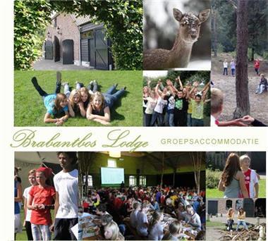 Grote foto schoolkamp in groepsaccommodatie nederland vakantie kinderen en jeugd