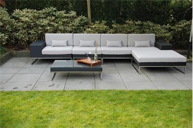 Loungeset tuin set wicker lounche hoekbank zwart kopen tuinmeubelen