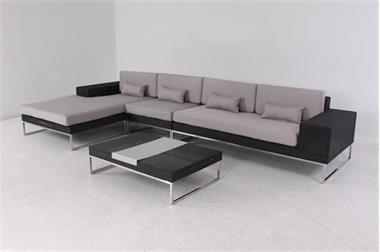 Lounge Hoekbank Tuin : Loungeset tuin set wicker lounche hoekbank zwart kopen tuinmeubelen