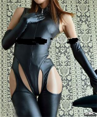 Grote foto sexy leather bodysuit erotiek lingerie lak