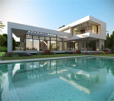 Moderne luxe villa nueva andalucia spaanse kust - Foto moderne villa ...