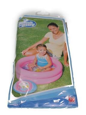 Grote foto baby zwembadje rond in blauw en roze kinderen en baby zwembaden en zandbakken