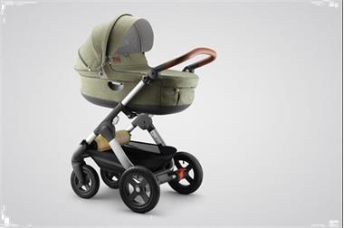 Grote foto stokke trailz limited edition nordic green kinderen en baby kinderwagens