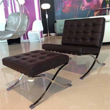 Fauteuil Leer Design.Barcelona Stoel Runder Leder Chair Leer Design