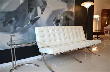 Caprinjo Design Meubels Maastricht.Barcelona Stoel Runder Leder Chair Leer Design