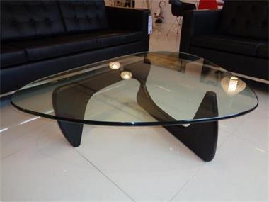 Salontafel noguchi design glas hout tafel kopen salontafels