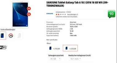 Grote foto samsung tablet pc tab a 10.1 2016 16gb computers en software tablets samsung