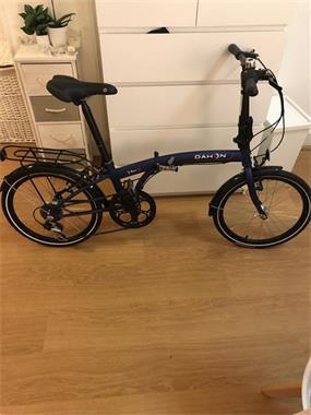 Grote foto dahon vouwfiets donkerblauw hangslot fietsen en brommers vouwfietsen