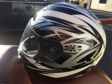 Grote foto sportieve zachtgekleurde motorhelm xl fietsen en brommers helmen