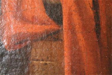 Grote foto antiek schilderij van nicolaes berchem huis en inrichting kunst