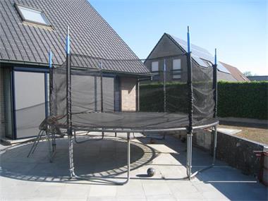 Grote foto trampoline 2012 koopje kinderen en baby trampolines en springkussens