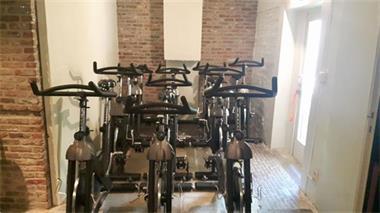 Grote foto spinning fietsen sport en fitness fietsen en wielrennen