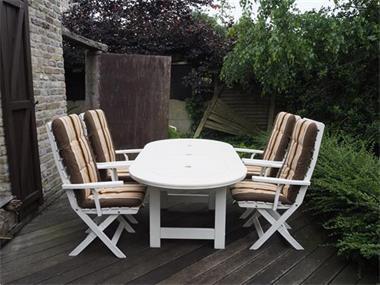 Kussens Voor Stoelen : Tuintafel met verstelbare stoelen kussens kopen tuinmeubelen