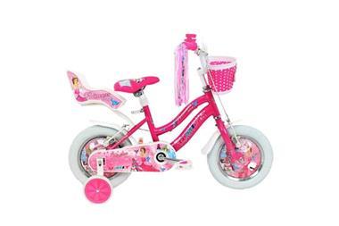 Grote foto princess 12 inch roze meisjesfiets fietsen en brommers kinderfietsen