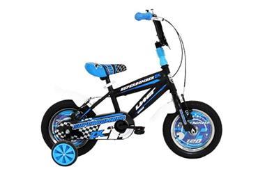 Grote foto umit superbomber 12 inch zwart blauw jongensfiets fietsen en brommers kinderfietsen