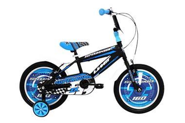 Grote foto umit superbomber 16 inch blauw zwart jongensfiets fietsen en brommers kinderfietsen