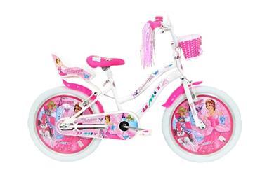 Grote foto princess 20 inch wit meisjesfiets fietsen en brommers kinderfietsen
