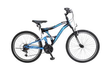 Grote foto umit albatros 24 inch mtb blue black fietsen en brommers mountainbikes en atb