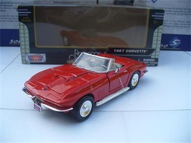 Grote foto motormax 1 24 chevrolet corvette cabrio rood hobby en vrije tijd 1 24