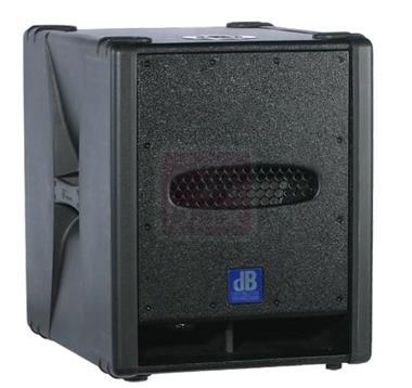 Grote foto db techsub 12d actieve sub met transporthoes muziek en instrumenten speakers