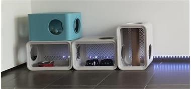 Grote foto moderne kattenboxen 4 in totaal dieren en toebehoren toebehoren