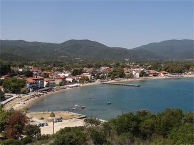 Grote foto appartement met zee en bergzicht 150m van strand vakantie griekenland