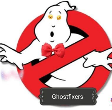 Grote foto ghostfixers hulp bij het onverklaarbare paranormaal spirituele praktijken
