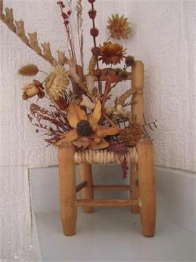 Grote foto mini stoeltje voor bloemstuk of popje hobby en vrije tijd knutselen