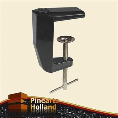 Grote foto zwarte spanklem tafelklem voor loeplampen en werklampen witgoed en apparatuur onderdelen en toebehoren