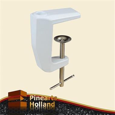 Grote foto witte spanklem tafelklem voor loeplampen en werklampen witgoed en apparatuur onderdelen en toebehoren